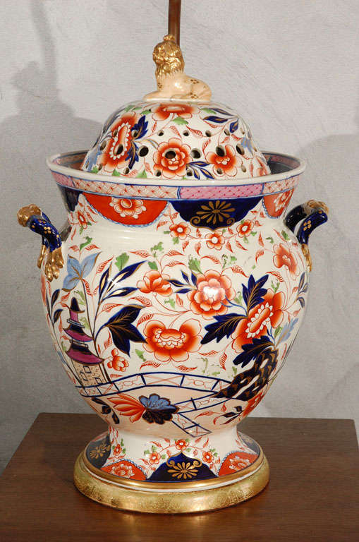 Antique English Imari Vessel As A Table Lamp At 1stdibs