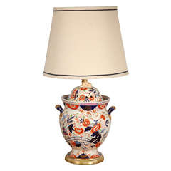 Antique English Imari Vessel as a Table Lamp
