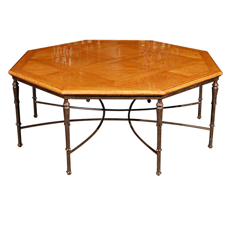 Cast Iron Coffee Table Bases: French Octagonal Coffee Table With Cast Iron Base At 1stdibs
