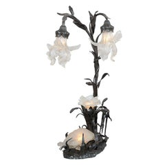 Unusual Art Nouveau Lamp