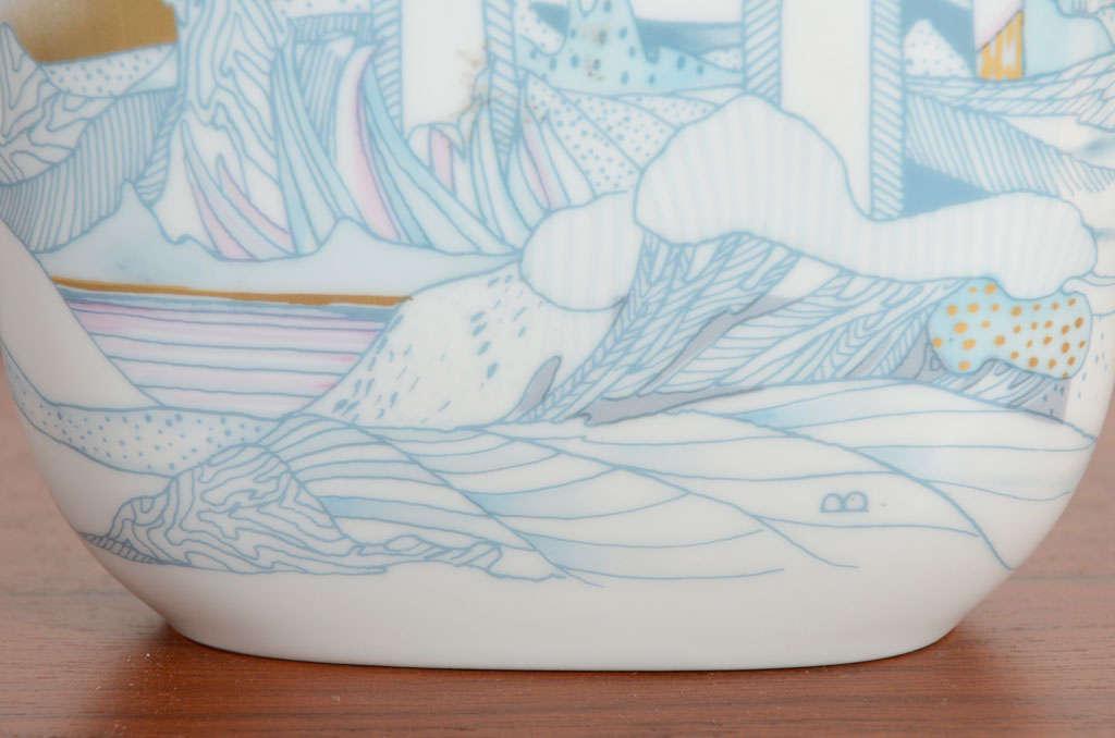 Rosenthal, Vase Germany Porcelain Mid Century 1970s Asian Inspired  For Sale 3