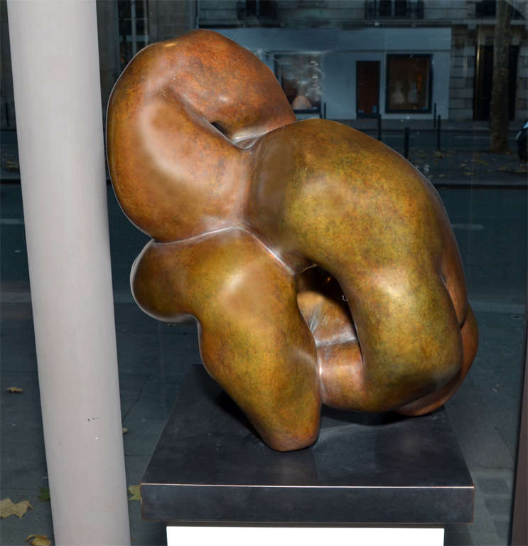 """Important Sculpture in Bronze by Jacques Zwobada """"Les Lutteurs"""" 2"""