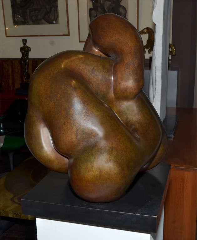"""Important Sculpture in Bronze by Jacques Zwobada """"Les Lutteurs"""" 4"""