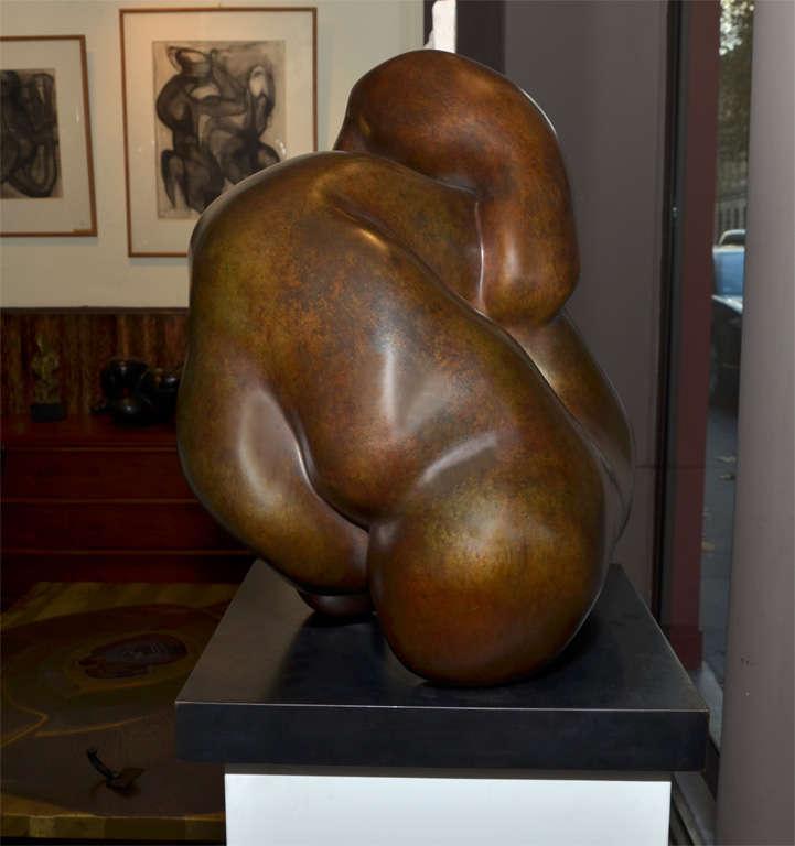"""Important Sculpture in Bronze by Jacques Zwobada """"Les Lutteurs"""" 5"""