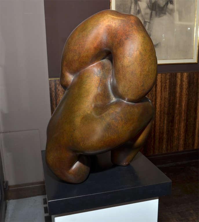 """Important Sculpture in Bronze by Jacques Zwobada """"Les Lutteurs"""" 7"""