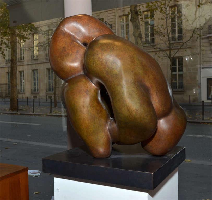 """Important Sculpture in Bronze by Jacques Zwobada """"Les Lutteurs"""" 8"""