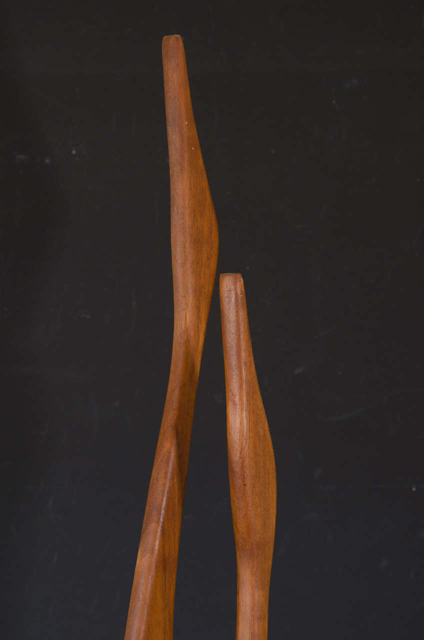 Danish Modern Wooden Sculpture of Birds 3
