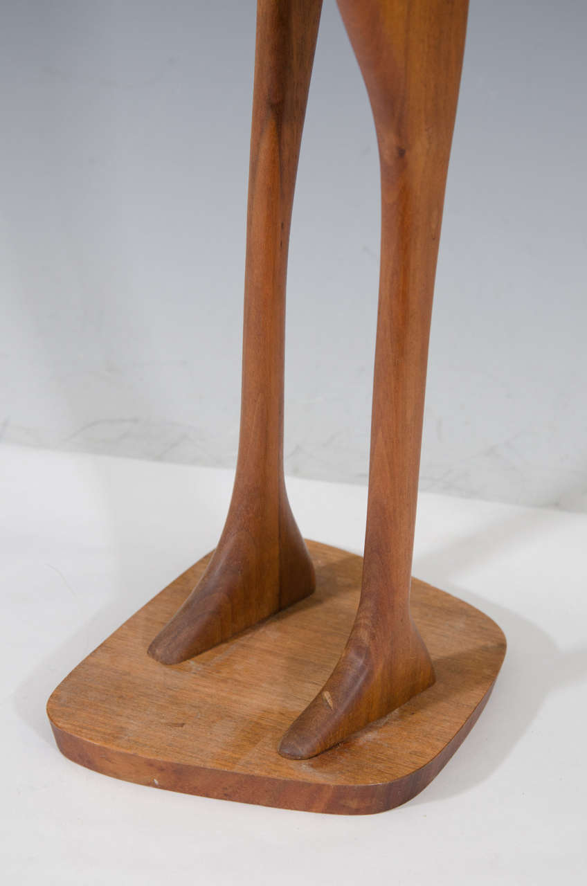 Danish Modern Wooden Sculpture of Birds 4