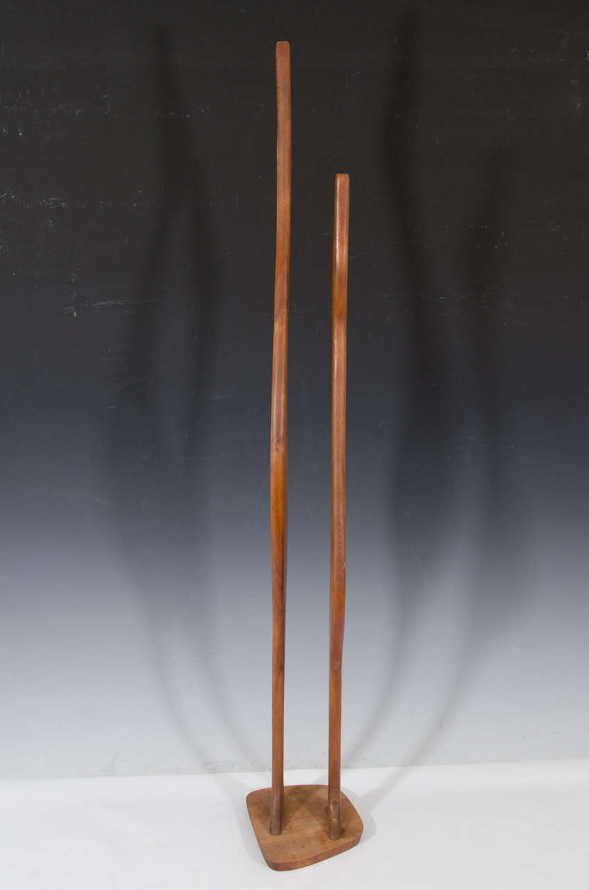 Danish Modern Wooden Sculpture of Birds 5