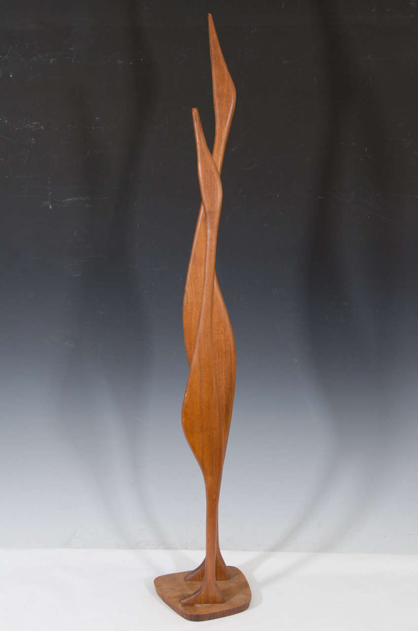 Danish Modern Wooden Sculpture of Birds 6