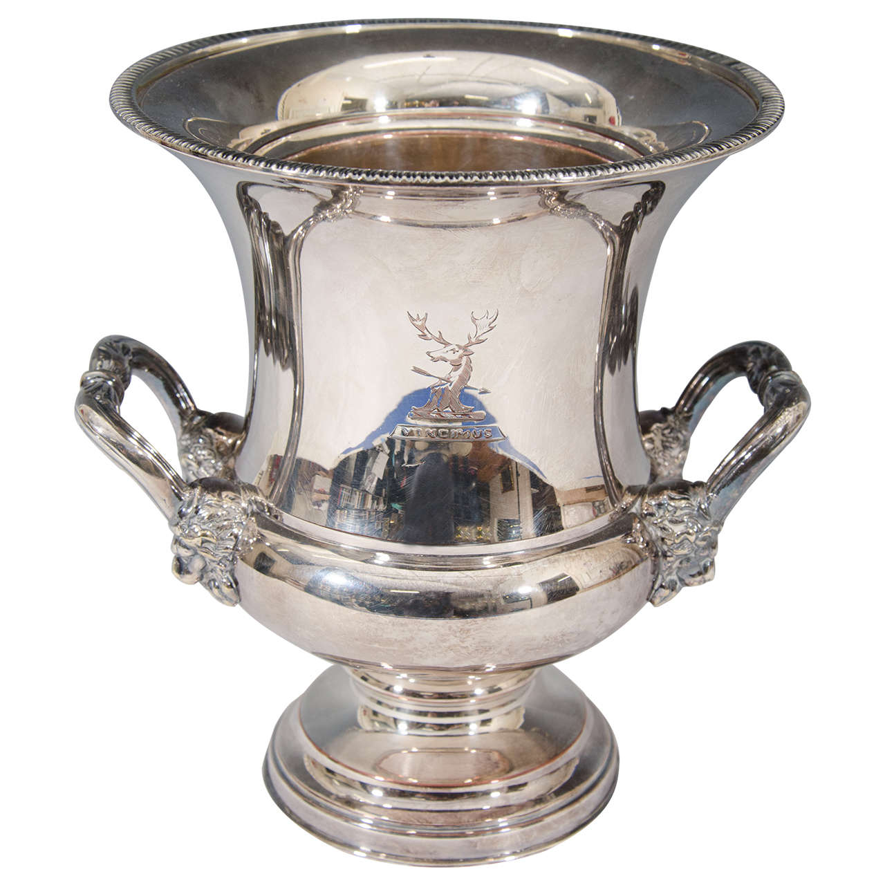 Vintage Silver Plate Ice Bucket Or Champagne Cooler At Stdibs