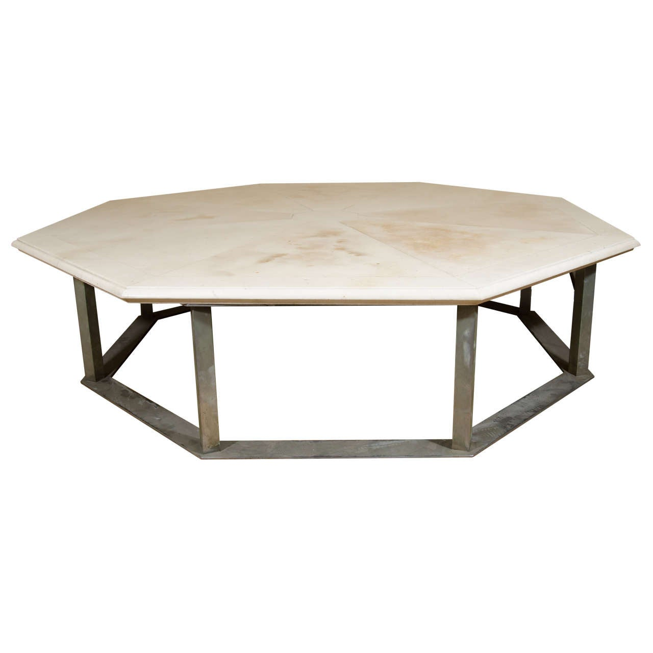 A Midcentury Marble And Steel Octagonal Coffee Table By George Ciancimino 1
