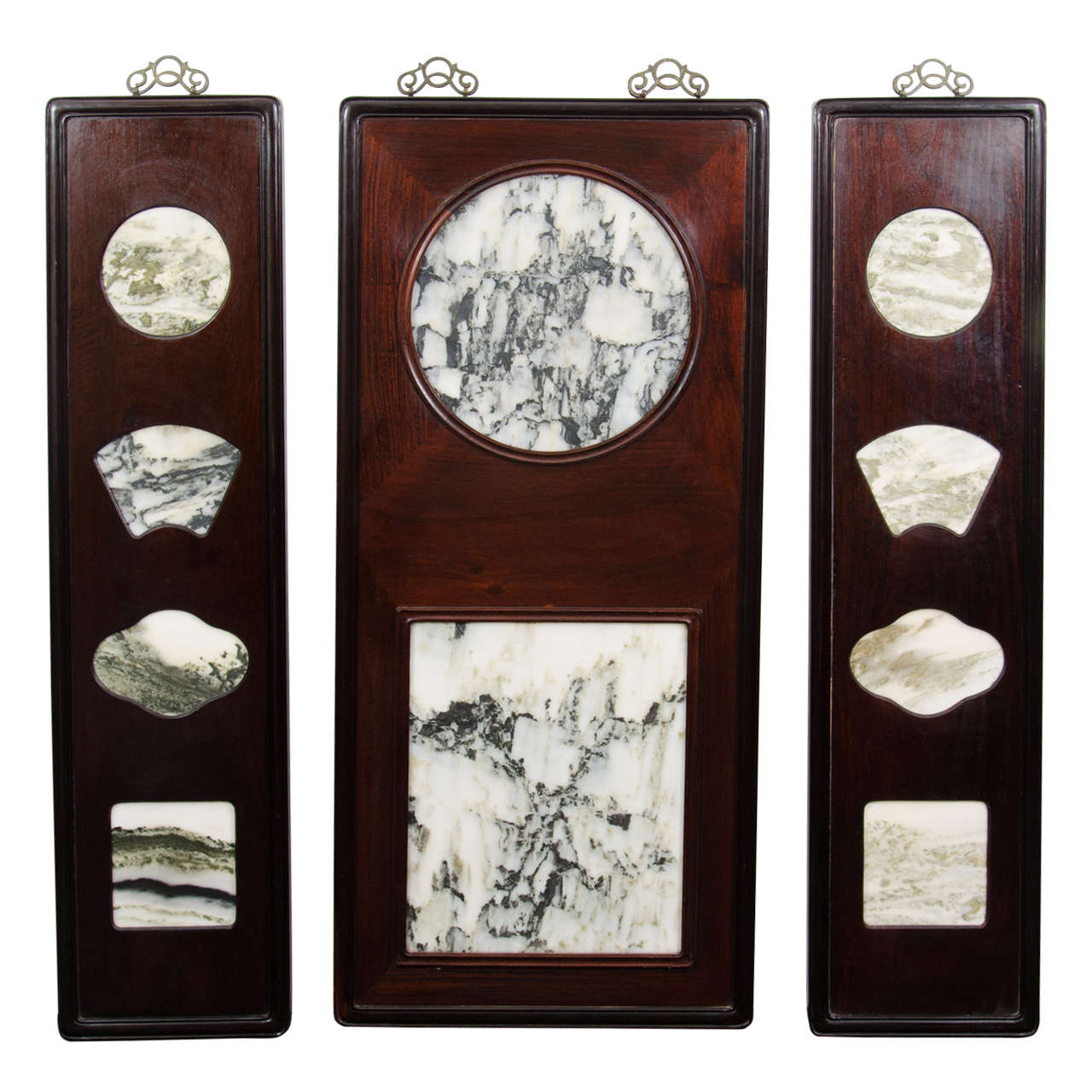 Contemporary Set of Chinese Marble \
