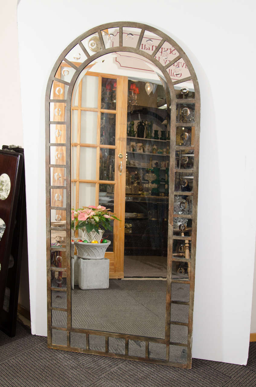 Industrial Style Steel Arched Mirror For Sale At 1stdibs