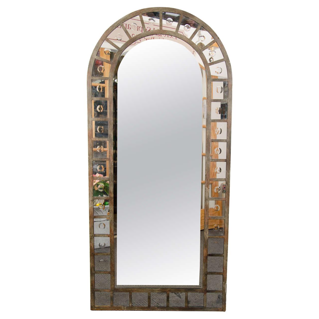Industrial Floor Mirror: Industrial Style Steel Arched Mirror At 1stdibs