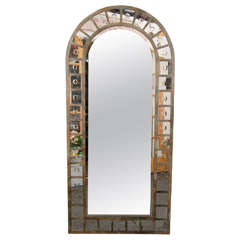 Industrial Style Steel Arched Mirror