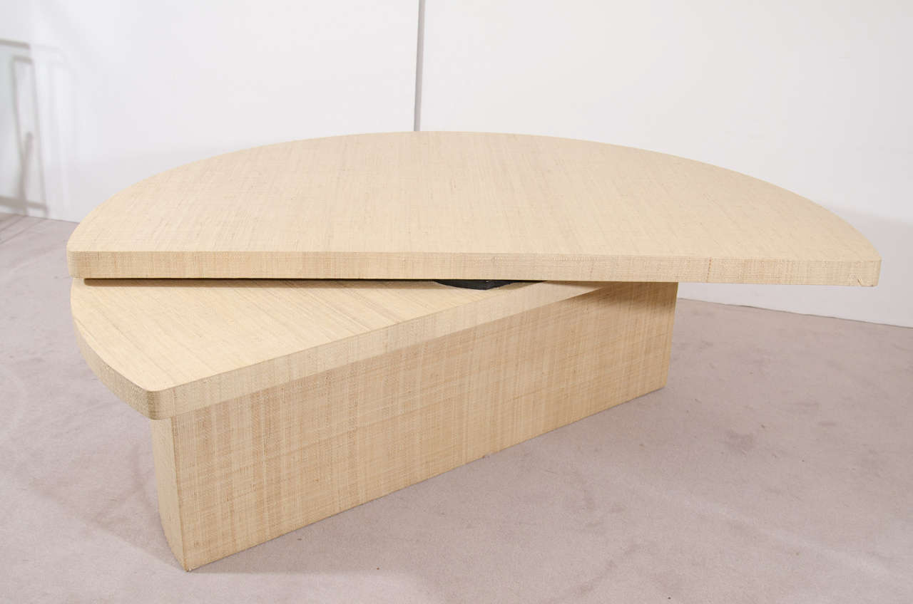 Grasscloth Coffee Table Midcentury Grasscloth Coffee Table Inspired By Karl Springer For