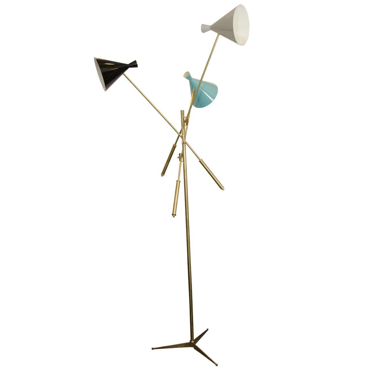 Midcentury italian arredoluce inspired floor lamp at 1stdibs for Arredo luce