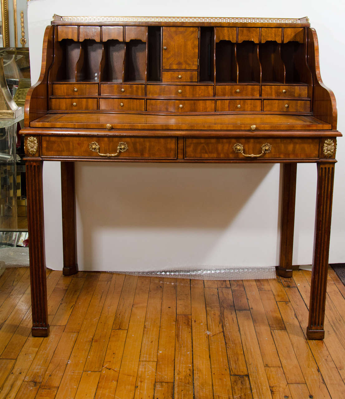 20th Century Maitland Smith Desk With Leather Writing Surface At 1stdibs