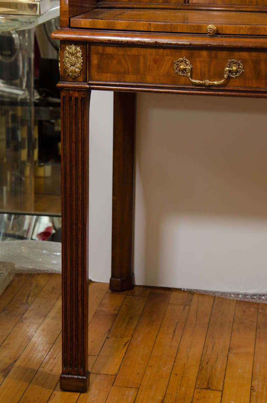 20th Century Maitland Smith Desk With Leather Writing