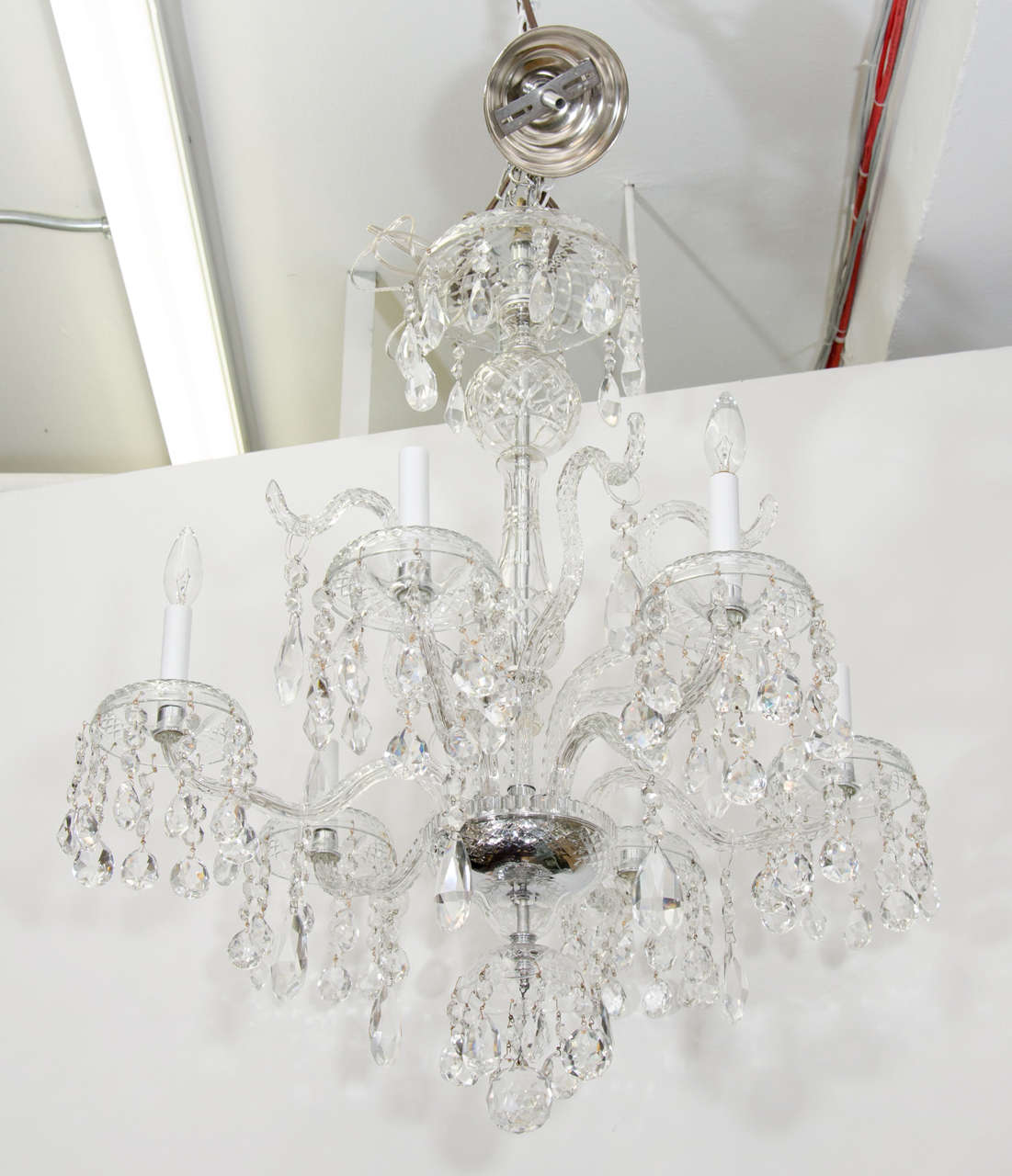 A S SixLight Drop Crystal Chandelier For Sale At Stdibs - Chandelier drop crystals