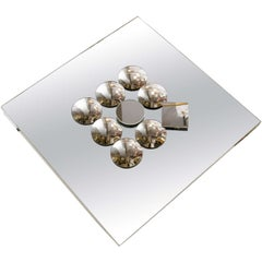Midcentury Pop Art Diamond-Shaped Sculptural Wall Mirror
