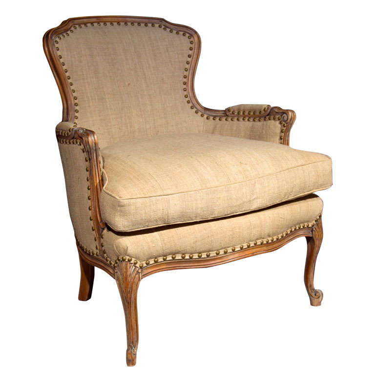 french louis xvi bergere chair at 1stdibs. Black Bedroom Furniture Sets. Home Design Ideas