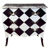 French Painted Marble-Top Commode