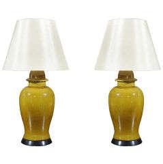 Pair, Vintage Ginger Jars as Lamps