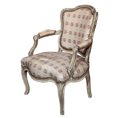 French, Painted Louis XIV Style Childs or Doll Armchair by Jansen