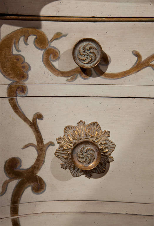 Pair of Marble-Top Commodes Stamped Jansen For Sale 3