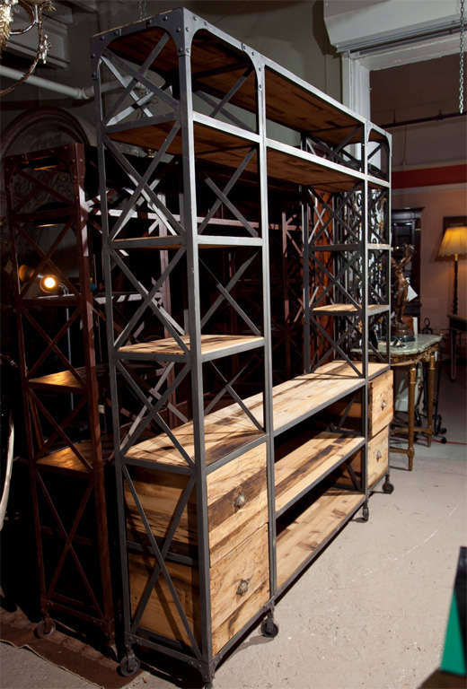 Industrial Entertainment Center Shelving At 1stdibs