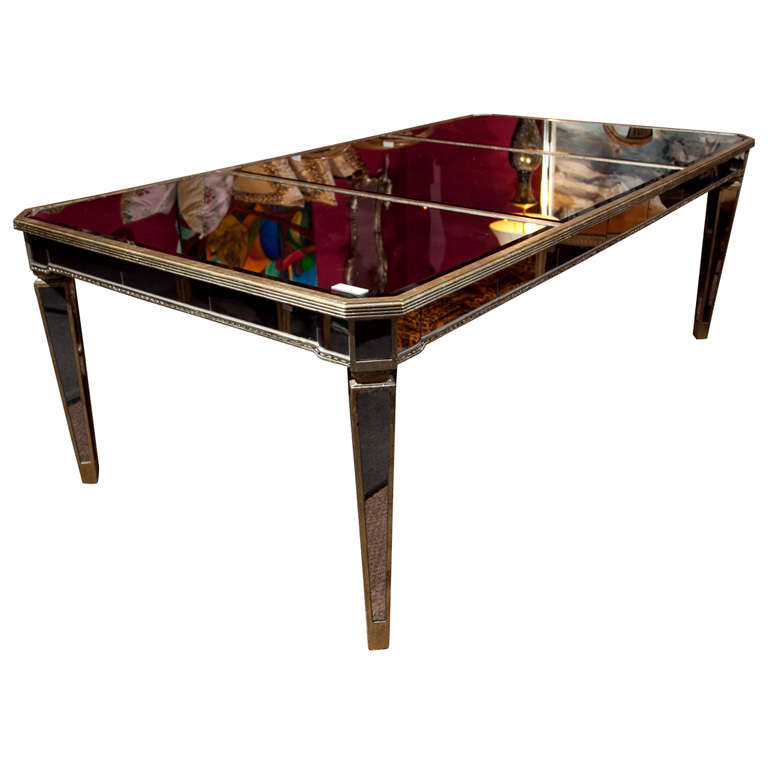 mid century mirrored dining table at 1stdibs