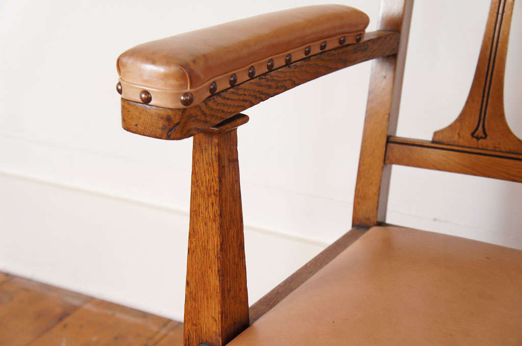 Arts And Crafts Movement Oak Armchairs For Sale At 1stdibs