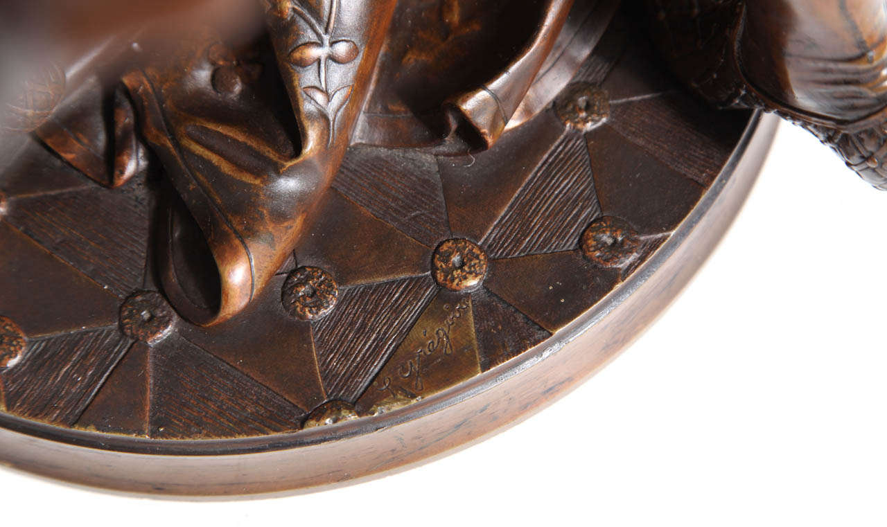 French Patinated Bronze Group of Romeo & Juliet by L. Gregoire 5