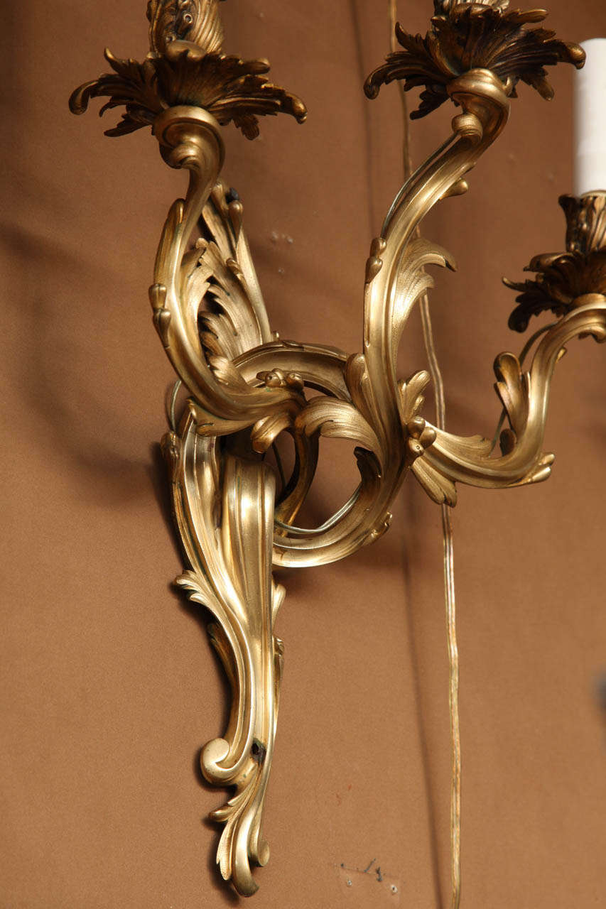 Quality Wall Sconces : A Very Fine Quality Set of Four French Louis XV Style Wall Sconces at 1stdibs