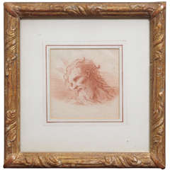 17th Century French Red Chalk Drawing