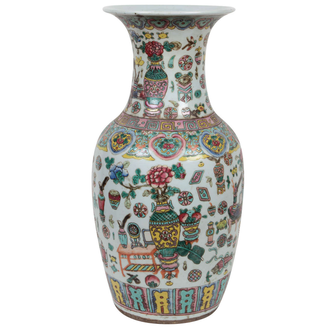 19th century chinese famille rose vase for sale at 1stdibs 19th century chinese famille rose vase for sale reviewsmspy