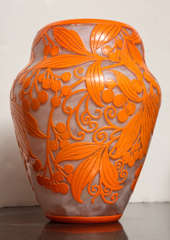 Daum Nancy Rare Art Deco Vase image 2