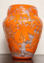 Daum Nancy Rare Art Deco Vase image 7