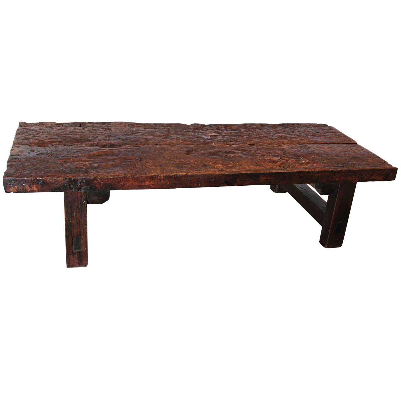 Primitive Spanish Walnut Coffee Table Circa 1820 At 1stdibs