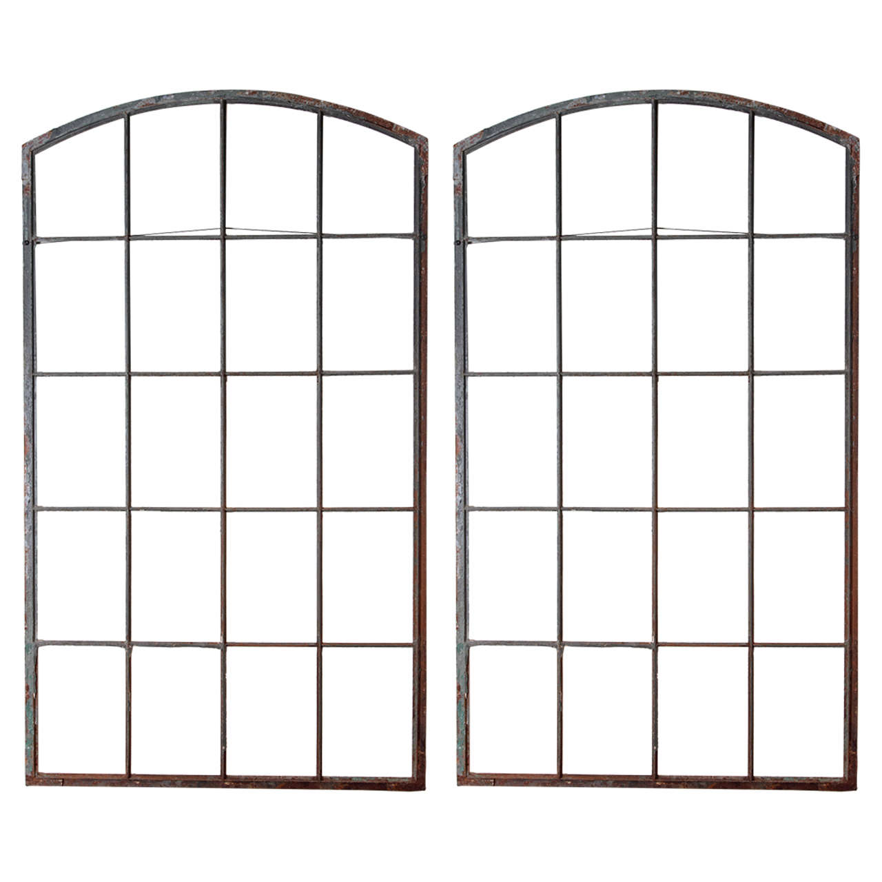 Iron warehouse fen tre frame as wall decor at 1stdibs for Decoration fenetre