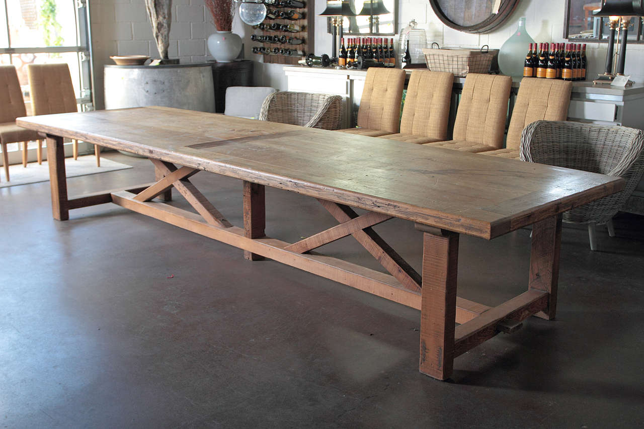 20th large pine farm table at 1stdibs