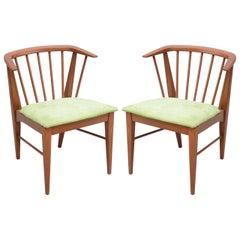 Pair of  teak chairs--1960s Denmark
