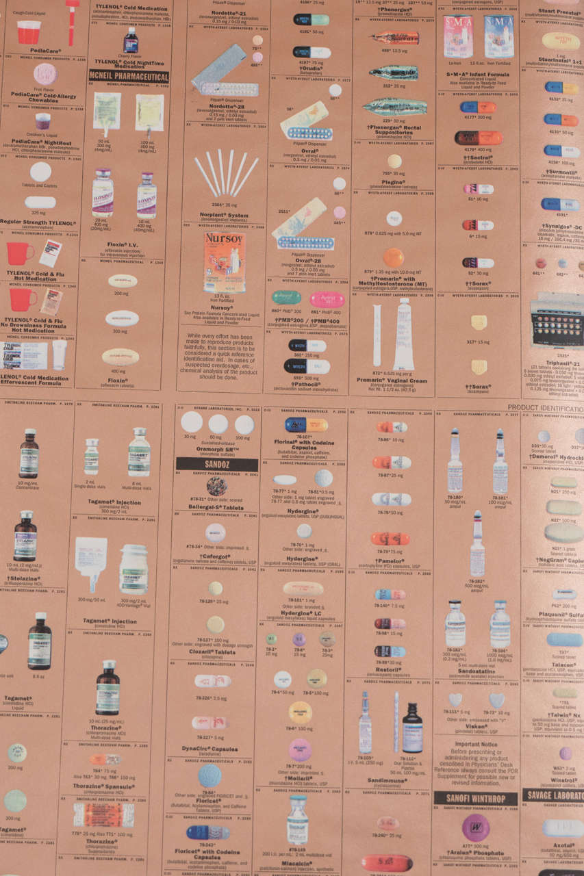 Thirty Rolls of Damien Hirst Gold Pharmacy Wallpaper For Sale 1