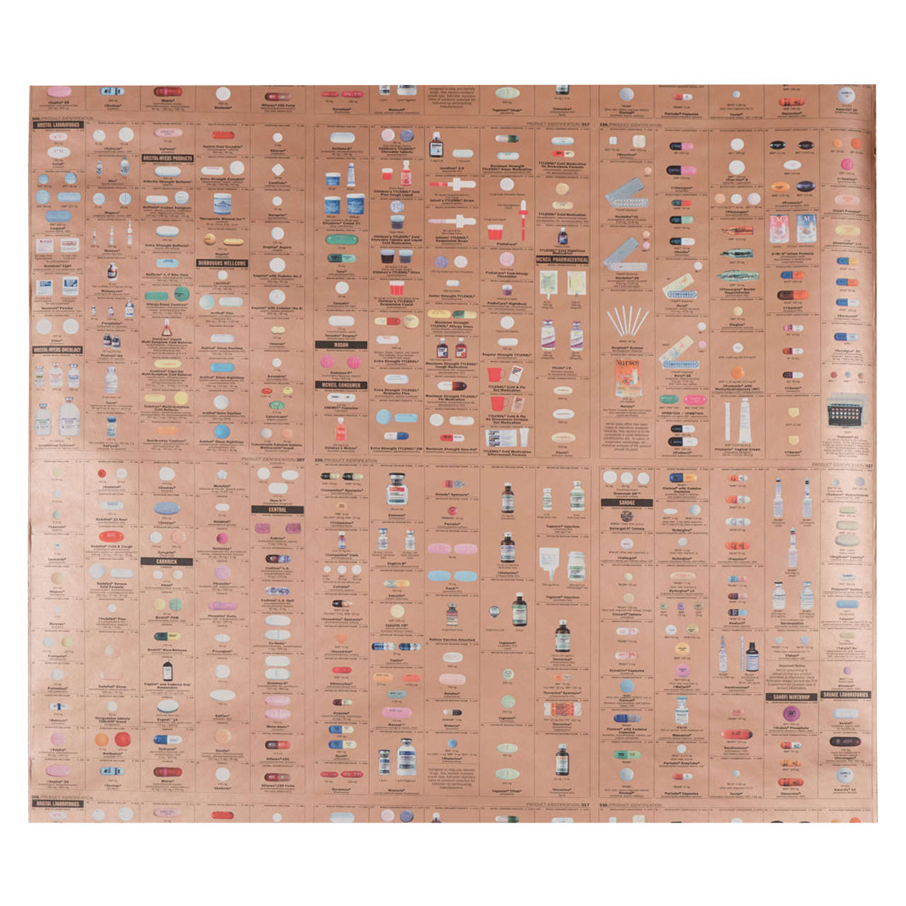 Limited-edition Damien Hirst Gold Pharmacy wallpaper, 2004