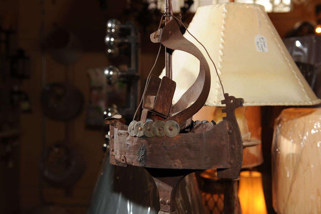 Vintage Viking Ship Ashtray Stand Floor Lamp At 1stdibs