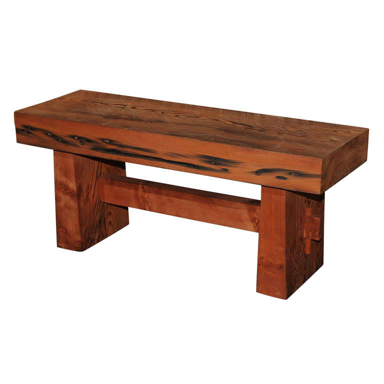 Russian River Redwood Bench At 1stdibs