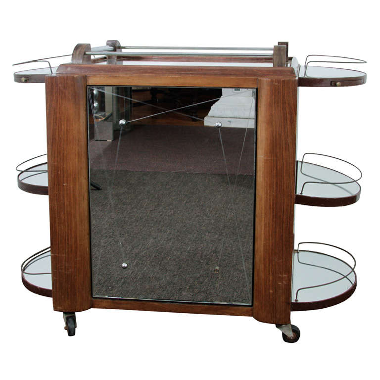 S Art Deco Style Smoked Glass Cabinet