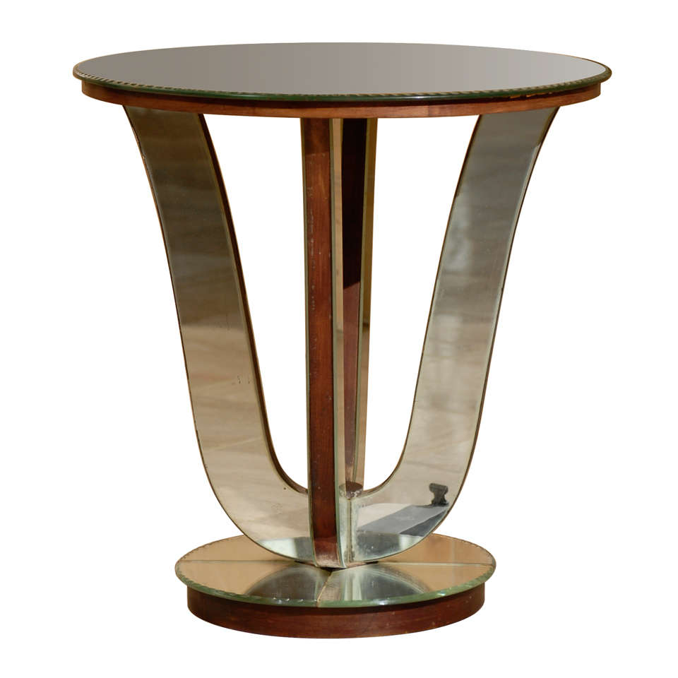 Art Deco Mirrored Side Table At 1stdibs